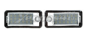 Audi-A3-S3-8P-8PA-A4-S4-B6-B7-licencia-numero-Placa-18-Led-Light-Bulbs-Lamparas