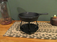 **Primitive Country Rustic Cast Iron Pan Wax Warmer!!**