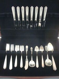 Lady-Hilton-by-Westmorland-Sterling-Silver-Flatware-Service-Set-52-Pieces
