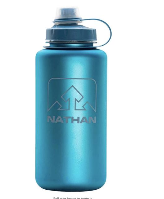 Nathan BigShot Water Bottle. BPA and Odor Free. 32oz 1 Liter Water Bottle. NEW