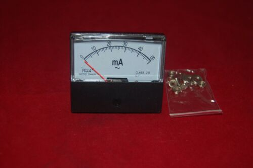 AC 50mA Analog Ammeter Panel AMP Current Meter 0-50mA 60*70MM directly Connect