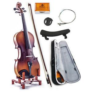 Premium-Solid-Wood-3-4-Violin-w-Case-Bow-Rosin-String-GIFT-SET-SKYVN102