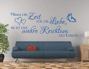 Wandtattoo-Spruch-Nimm-dir-Zeit-fuer-die-Liebe-Reichtum-Wandaufkleber-Aufkleber