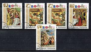 Togo 1972 Noël Lot De 5 Timbres Commémoratifs Cto