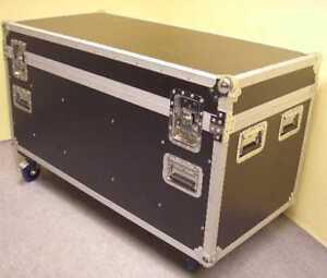 Montage Case 120cm Truhen Transport Kiste mit Lenkrollen & Trennwände ROADINGER