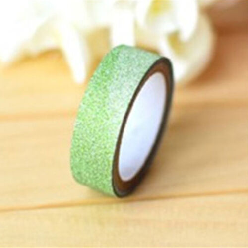High Cute Washi 5m Tape DIY Paper Glitter Adhesive Scrapbooking Sticker Craft