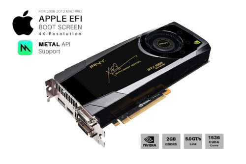  NVIDIA GTX 680 2GB Video Card for Apple Mac Pro CUDA Mojave And 4K METAL