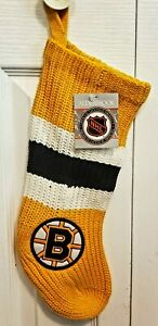 NHL Licensed Vintage Boston Bruins Christmas Stocking Brand New With Tag