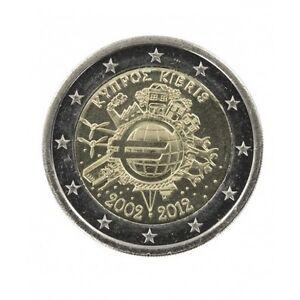 """Pièce Commémorative de Chypre 2012 """"10 ans de l'Euro"""""""