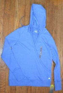 aca733add12b Blue Tek Gear Long Sleeve Hoodie Wrap Style V Neck Size Large or XL ...