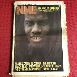 NME 20 Nov 1982 Eddy Grant, Black Flag, Tears For Fears, Jah Wobble, Higsons