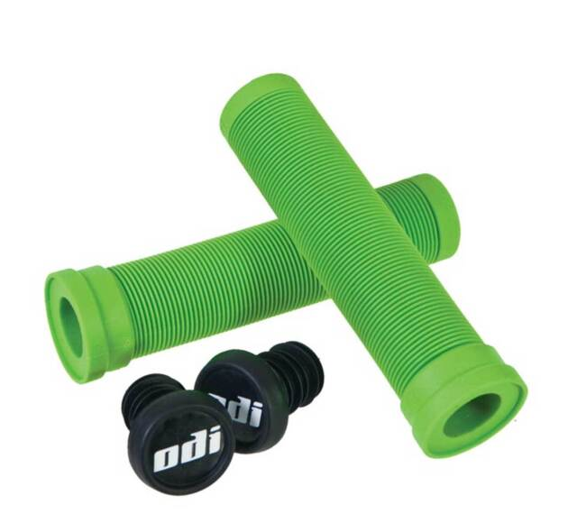 ODI Soft Flangeless Longneck Grips Softies BMX Bike & Scooter 143mm Green