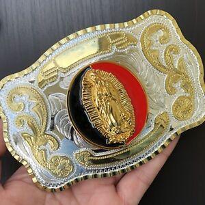 HIGH-QUALITY-Oversize-Vintage-Belt-Buckle-Western-Cowboy-SILVER-GOLD-MEN-WOMEN
