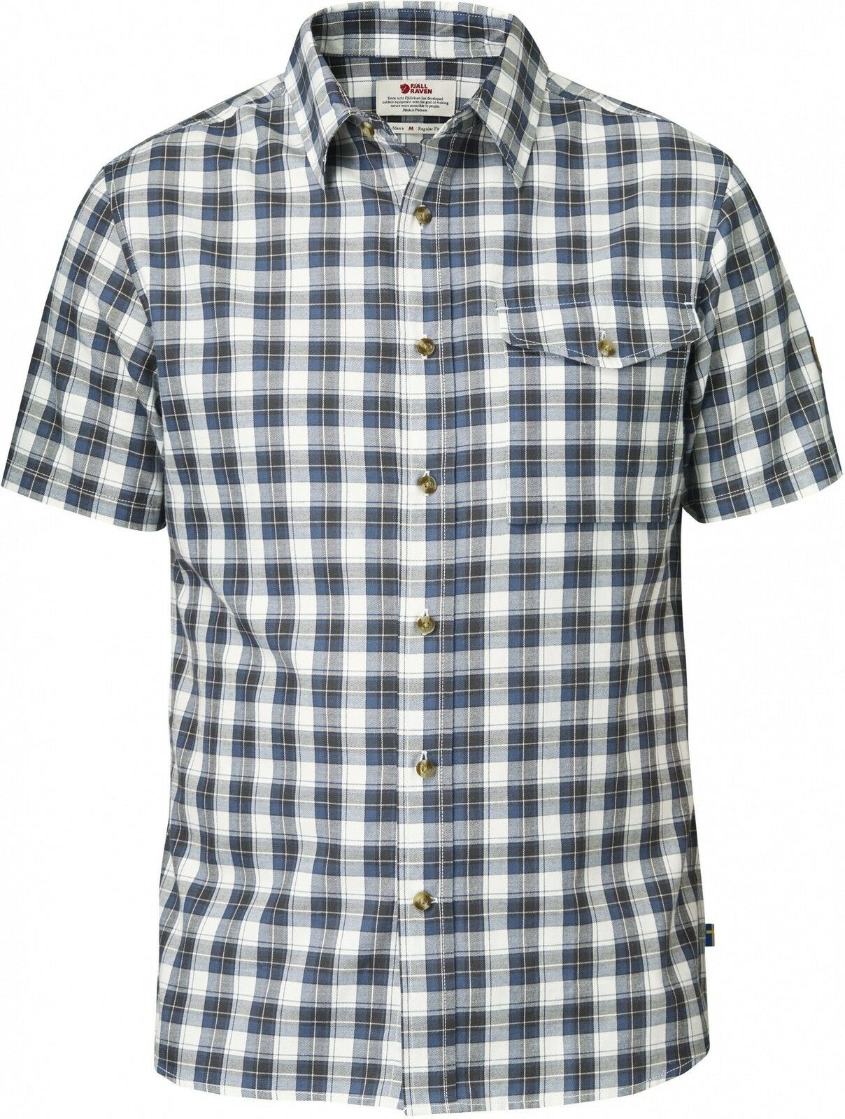 Fjäll Räven Sarek Shirt SS, short-sleeved men's shirt, Uncle bluee, Function