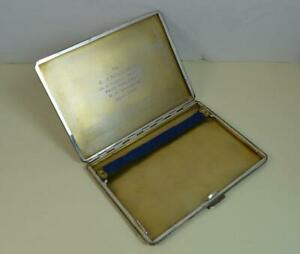 Militaria-Navy-RMS-SS-Andania-EJ-Williams-Solid-Silver-Cigarette-Case-1936