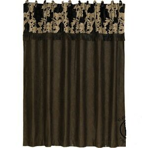 Image Is Loading Western Cowhide Shower Curtain With FREE Hooks And