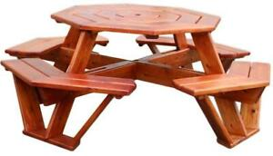 Mennonites Handmade Ontario Insects/weather Resistant Cedar Wood Octagon Patio Picnic Tables Ontario Preview
