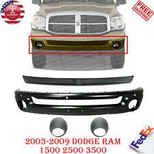 Front Bumper Paintable Filler Lights For 03 09 Dodge Ram 1500 2500 3500 Fits 2005 Dodge Ram 1500