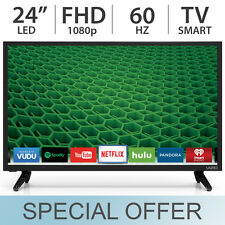 """VIZIO 24"""" 1080p FULL HD 60Hz LED / LCD Smart TV with Built-in WiFi - D24-D1"""