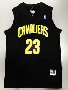 wholesale dealer 97b13 c909e Details about Lebron James Cleveland Jersey Black And Yellow