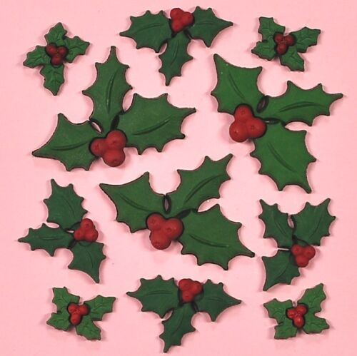 Flatbacked DRESS IT UP Embellishments Holly Jolly Christmas 2478