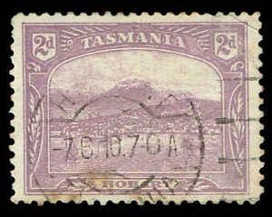 """Scott # 114 - 1911 - """"vue De Hobart"""", Redessiné-afficher Le Titre D'origine"""