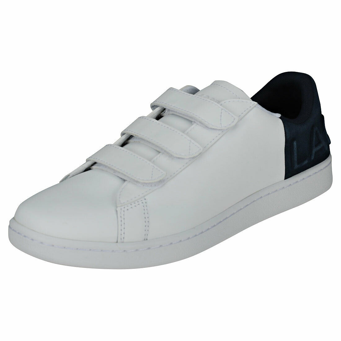 Lacoste Carnaby Evo Strap 318 1 Mens White Navy Casual Trainers