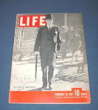 LIFE MAGAZINE FEBRUARY 10 1941 BRITISH AMBASSADOR LORD HALIFAX NICE!!
