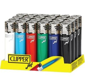 Clipper-Original-Feuerzeug-039-Jet-Flame-Classic-039-1-4-Stuck-Feuerzeuge-NEU-elektr