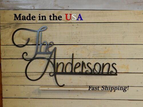 S1124 Elegant Name Sign Wedding Gift Metal Last Name Family Name Decor