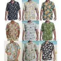 Margaritaville Men Rayon Short Sleeve Bbq Beach Button Front Tropical Shirt