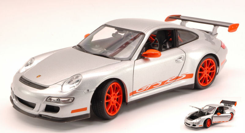 Porsche 911 Gt3 Rs 2007 Grey With orange Strips 1 18 Model 8015S WELLY