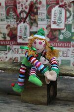 Plush Christmas Elf Soft Toy ~ Girls Design Vary