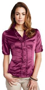Tri-Mountain-Women-039-s-Feminine-Style-Stain-Short-Sleeve-New-Look-Shirt-LB733