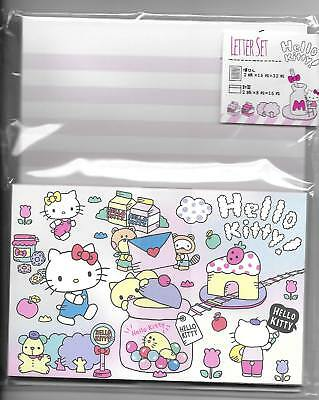 Sanrio Hello Kitty Stationery Set With Envelopes Letter Set Sweets