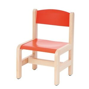 Image is loading Childrens-Chair-Wooden-Stackable-Kids-Chair-Seating-School-  sc 1 st  eBay & Childrens Chair Wooden Stackable Kids Chair Seating School Chairs ...