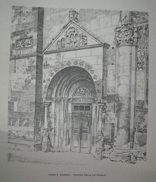 ARTE_ARCHITETTURA_EMILIA_FIDENZA_BORGO S. DONNINO_CATTEDRALE_ANTICO PORTALE_'900