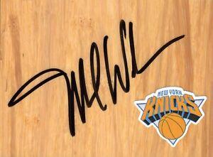 New York Knicks Mike Woodson Autographed FloorBoard COA