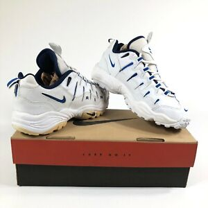 fc112af9 Nike Air Perish Womens 7.5 Walking Shoes White Blue New Old Stock ...