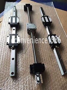 HSR25CA-1700-mm-Linear-Rail-amp-RM2505-1700mm-Anti-backlashed-ballscrew-amp-BK-BF20-Kit