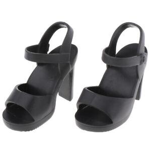 Handmade-Plastic-Doll-High-Heel-Shoes-for-1-4-BJD-Dolls-DIY-Dress-up-Black