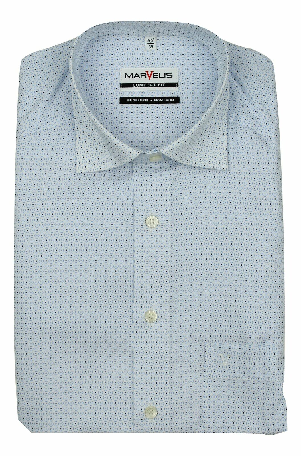 White Mix Geometric Spread Collar