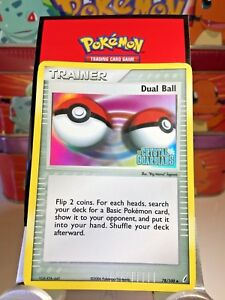 Dual-Ball-Trainer-78-100-034-Stamped-034-Ex-Crystal-Guardians-Holo-Pokemon-Card-VG