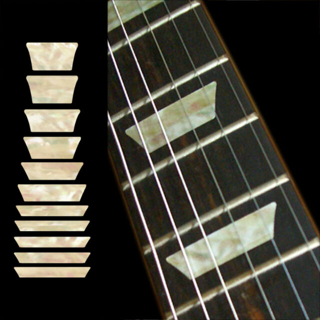 Dish Trapezoid Les... Fretboard Markers Inlay Sticker Decals for Guitar /& Bass