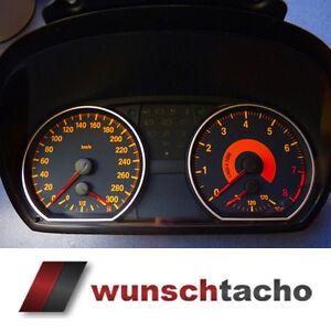 Tachoscheibe-135i-BMW-1er-E81-E82-E87-E88-034-Black-034-280-Kmh-erweitert-auf-300-Kmh