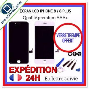 ÉCRAN LCD AAA IPHONE 8/8 Plus NOIR/BLANC VITRE TACTILE SUR CHÂSSIS + KIT OUTILS