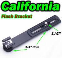 1/4 Flash Gun Hot Shoe Digital Dc Camera Arms Bracket Stand Canon Nikon Pentax