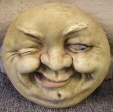 Winky Man In Moon Rock Face Plaque Latex Fiberglass Production Mold Concrete