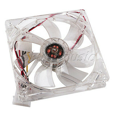 Blue 120mm 4 LED 4Pin Ultra-quiet Cooling Fan for PC Computer Chassis Case