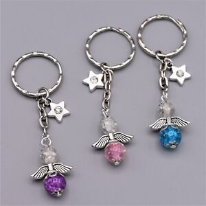 Bastelset 15 Schlüsselanhänger Schutzengel Glücksbringer Perlen